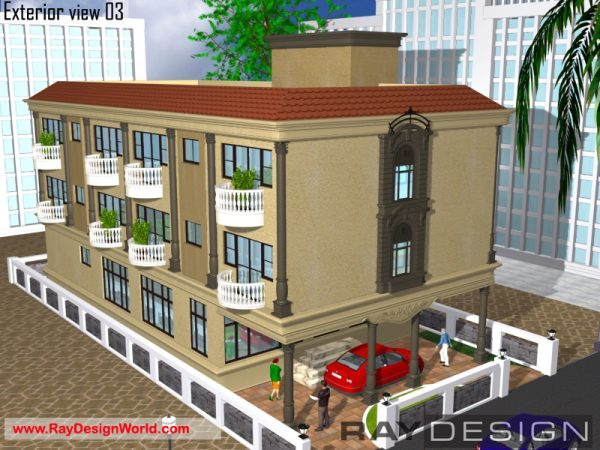 Best Hotel Design in 3612 square feet - 01