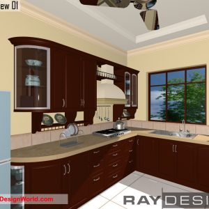 Best Interior Design - Kitchen in 742 square feet - 01
