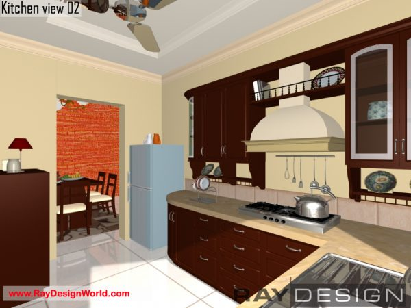Best Interior Design - Kitchen in 742 square feet - 01