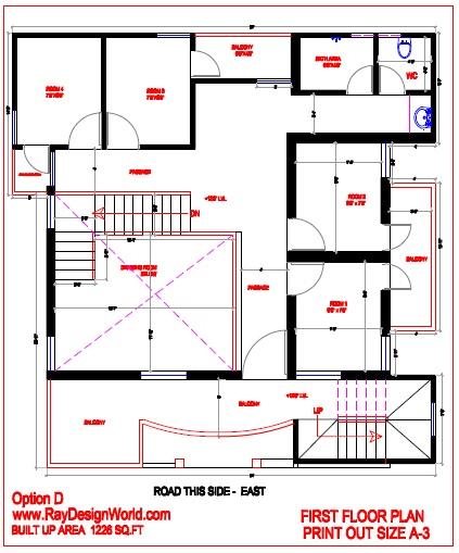 Best Residential Design in 1050 square feet - 30