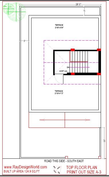 Best Residential Design in 1289 square feet - 22