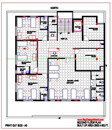 Best Hospital Design in 3840 square feet - 11