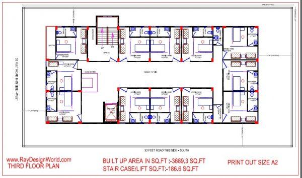 Best Hospital Design in 6960 square feet - 01