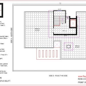 Best Hospital Design in 4313 square feet - 14