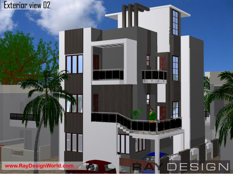 Jaweed Patel - Bharuch  -house 3d exterior view