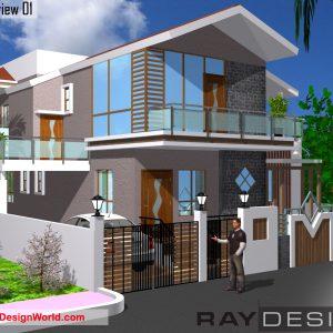Best Residential Design in 2400 square feet - 37