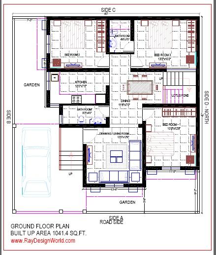Best Residential Design in 1680 square feet - 47