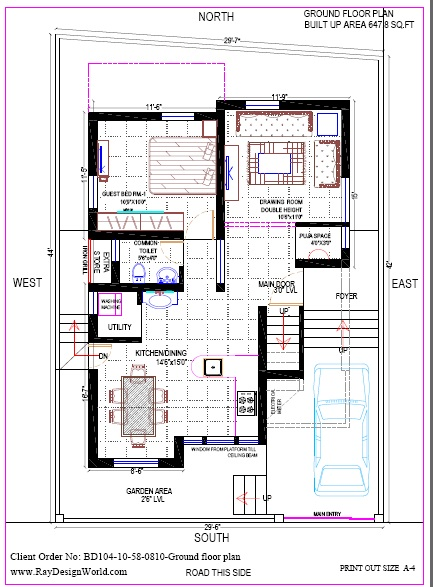 Best Residential Design in 1276 square feet - 35