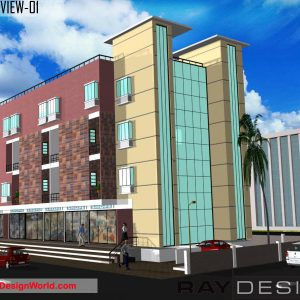 Best Commercial Complex Design in 7645 square feet - 03