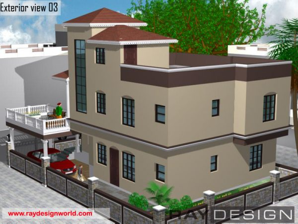 Best Residential Design in 2052 square feet - 50