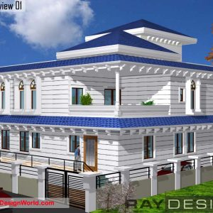 Best Residential Design in 3840 square feet - 52