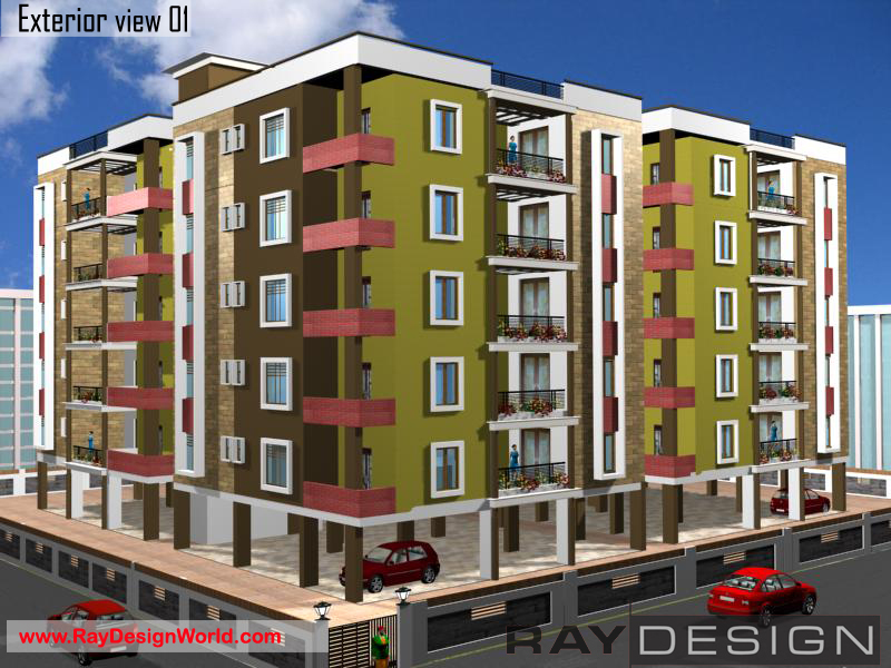 Mohan K-Hyderabad - Apartment 3D Exterior Views