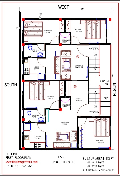 best residential design in 1350 square feet 49