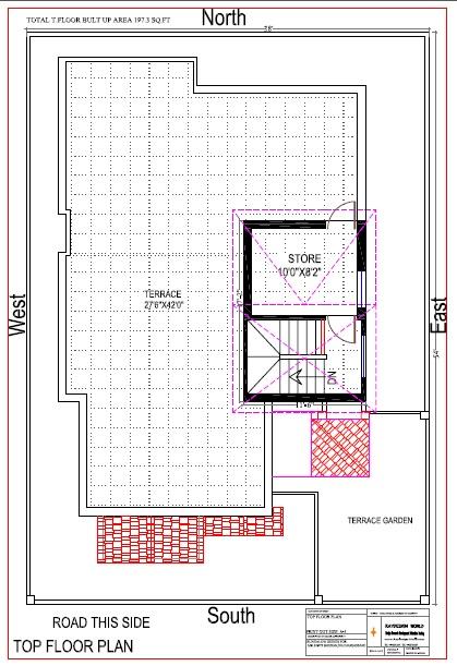 Best Residential Design in 2052 square feet - 50