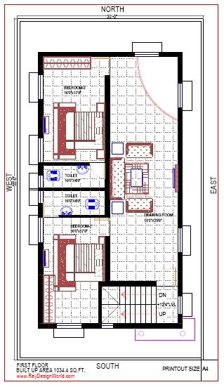 Best Residential Design in 1650 square feet - 69