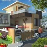 Mr.Kumar- House 3D exterior Design view 01