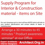 construction material supply program by Architect.Org.in