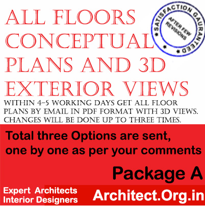 Package A for www.Architect.Org.in for architectural fees