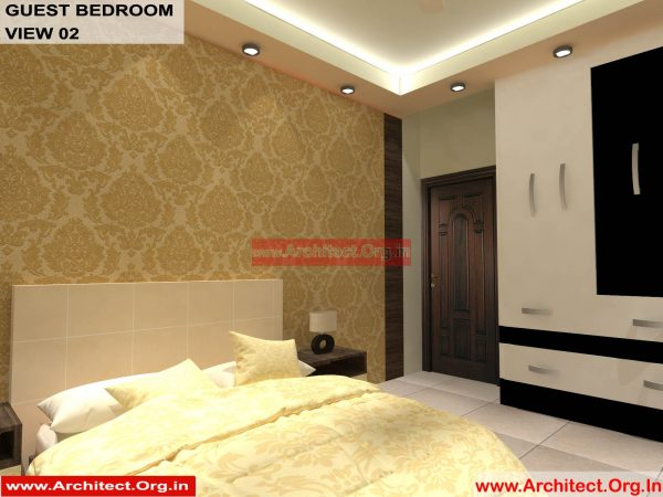 House Interior Design - Nagpur Maharashtra - Guest Bedroom - Mr.Pankaj Singhania - FR Ms. Rakhi Singhania