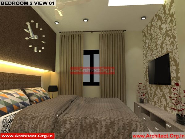 House Interior Design - Nagpur Maharashtra - Bedroom 2 - Mr.Pankaj Singhania - FR Ms. Rakhi Singhania