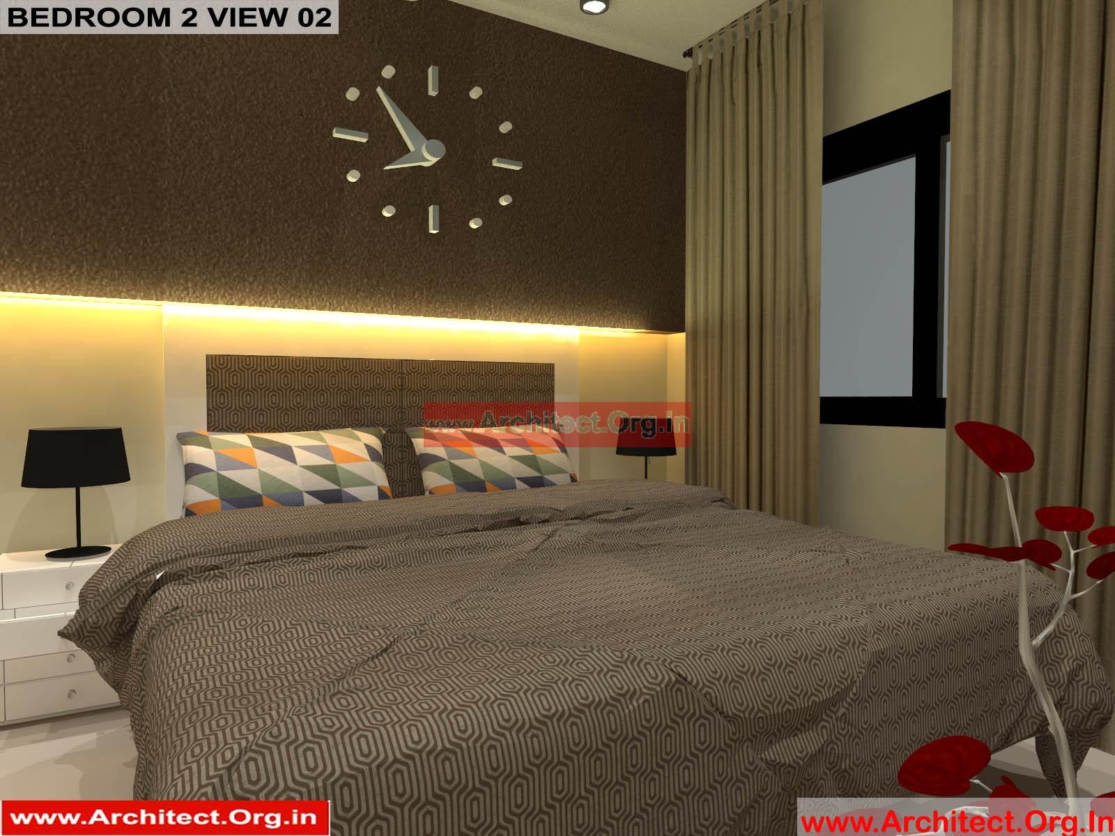 Mr Pankaj Fr Ms Rakhi Nagpur Maharashtra House Interior Bedroom 2 View 02 Architect Org In