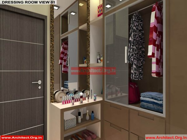 House Interior Design - Nagpur Maharashtra - Dressing room - Mr.Pankaj Singhania - FR Ms. Rakhi Singhania