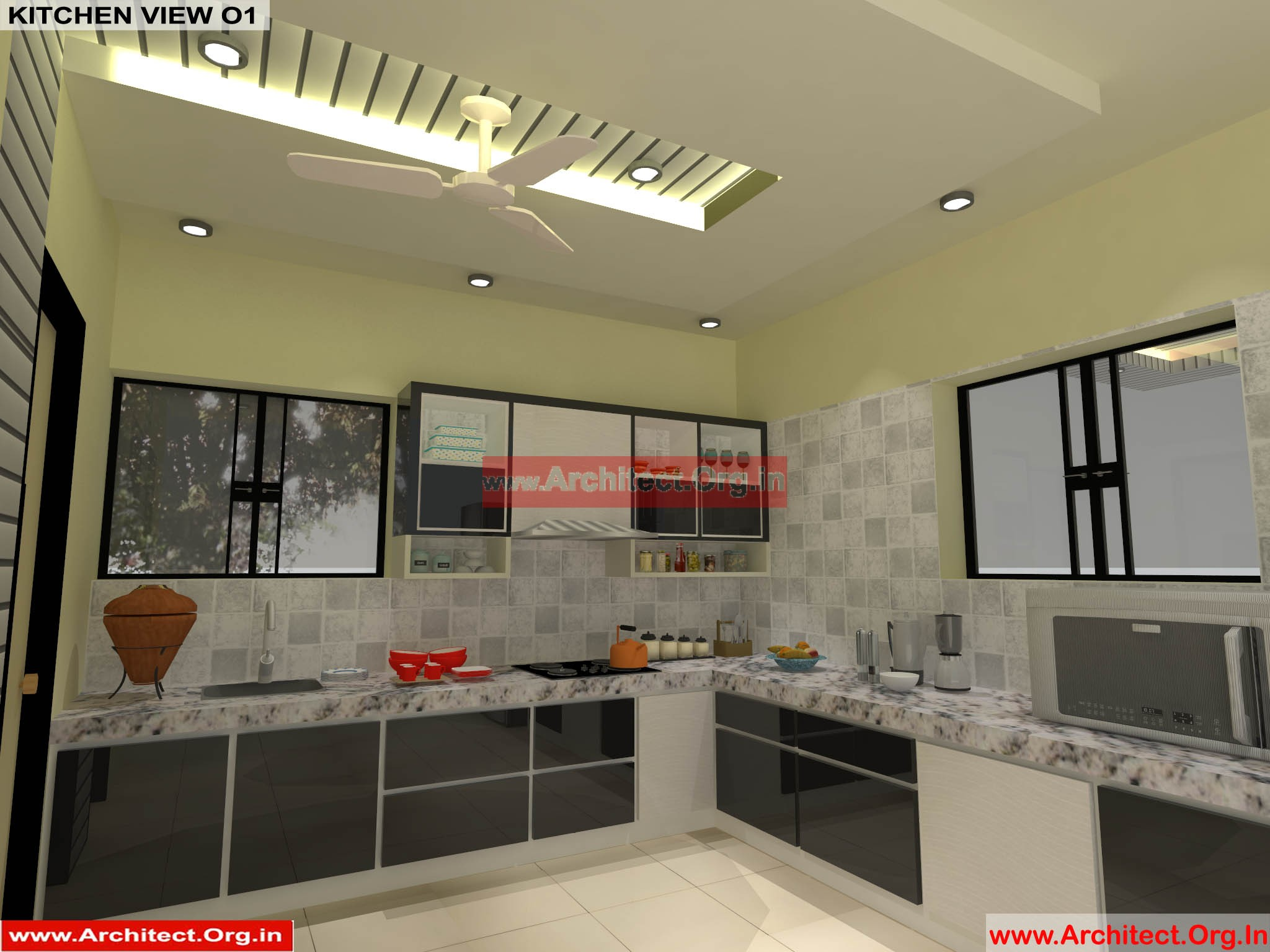 Mr pankaj fr ms rakhi nagpur maharashtra house interior kitchen view 01