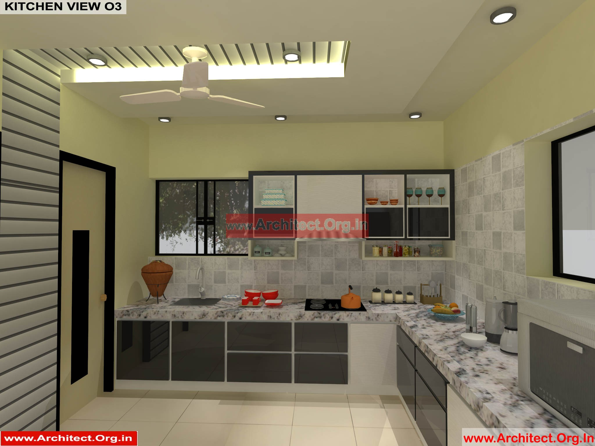 Mr pankaj fr ms rakhi nagpur maharashtra house interior kitchen view 03