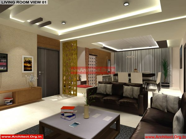 House Interior Design - Nagpur Maharashtra - Living Room - Mr.Pankaj Singhania - FR Ms. Rakhi Singhania