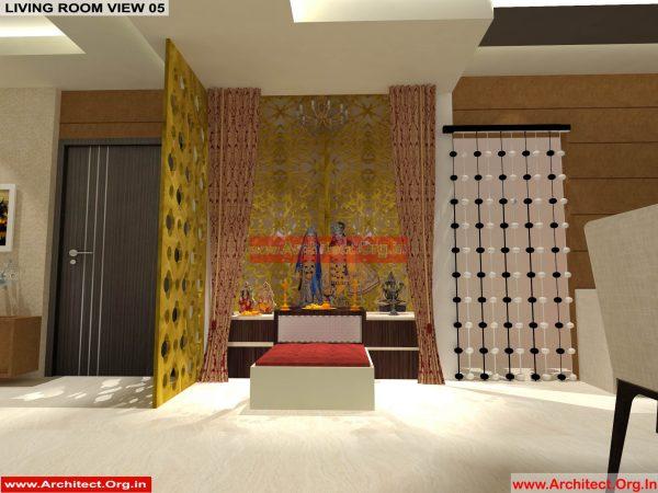House Interior Design - Nagpur Maharashtra - Pooja Room - Mr.Pankaj Singhania - FR Ms. Rakhi Singhania