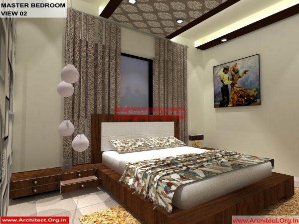 House Interior Design - Nagpur Maharashtra - Master Bedroom - Mr.Pankaj Singhania - FR Ms. Rakhi Singhania