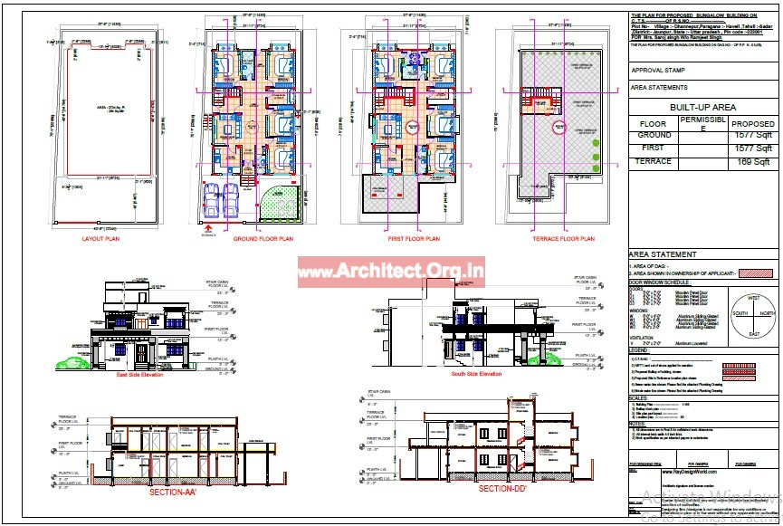 Bungalow design - Approval Drawing - Azamgarh UP - Mr.Abhay kumar singh