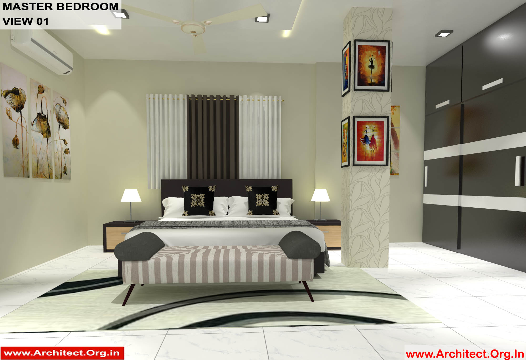 Dr Sandeep Ada Naidupet Andhra Pradesh House Interior Master Bedroom View 01 Rev Architect Org In