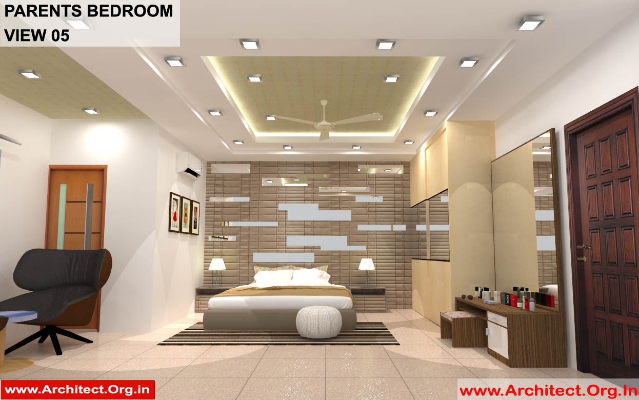 Dr Sandeep Ada Naidupet Andhra Pradesh House Interior Parents Bedroom View 05 Architect Org In
