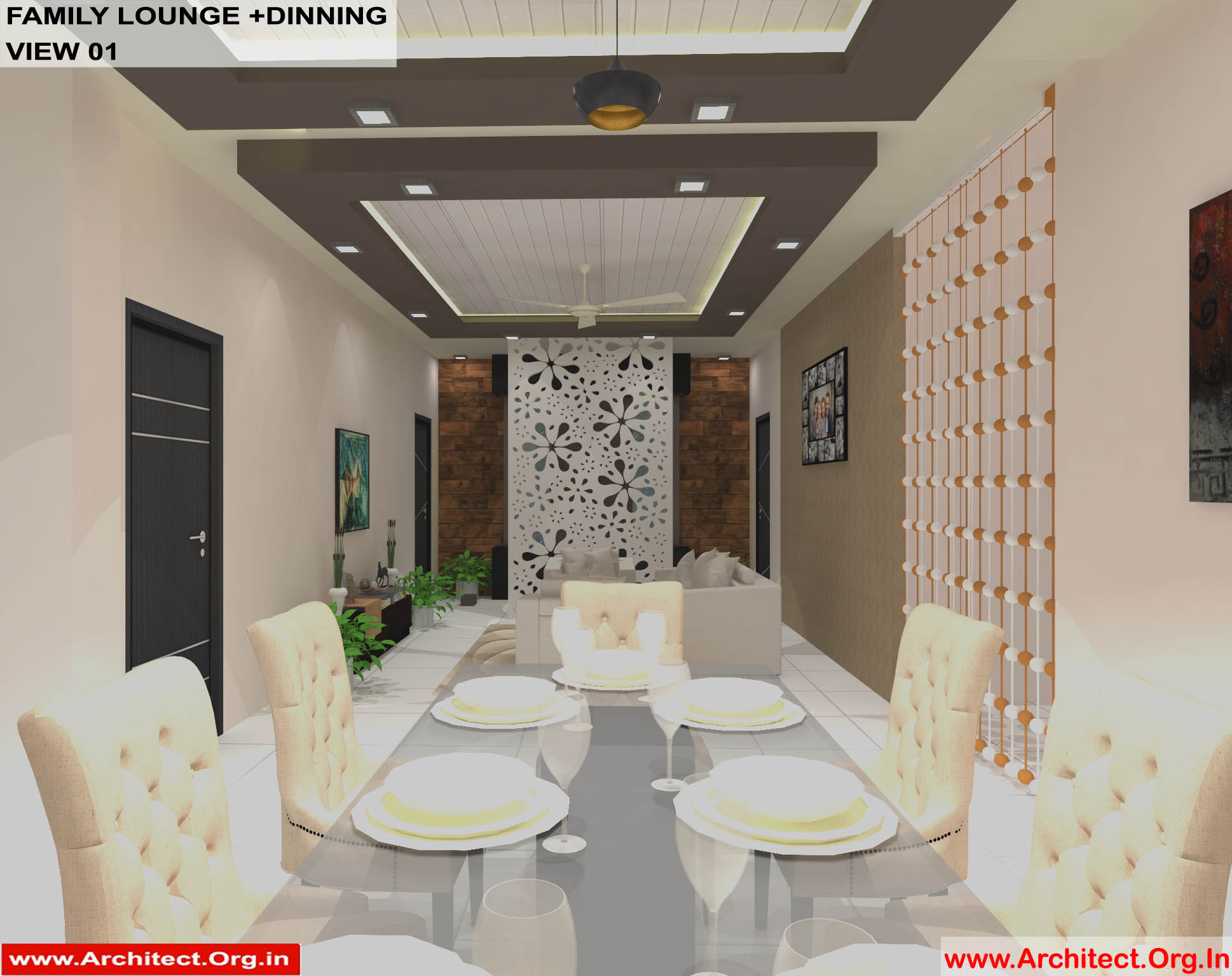 Dr Sandeep Ada Nayudupet Andhra Pradesh House Interior Family Lounge Dinning View 01 Architect Org In