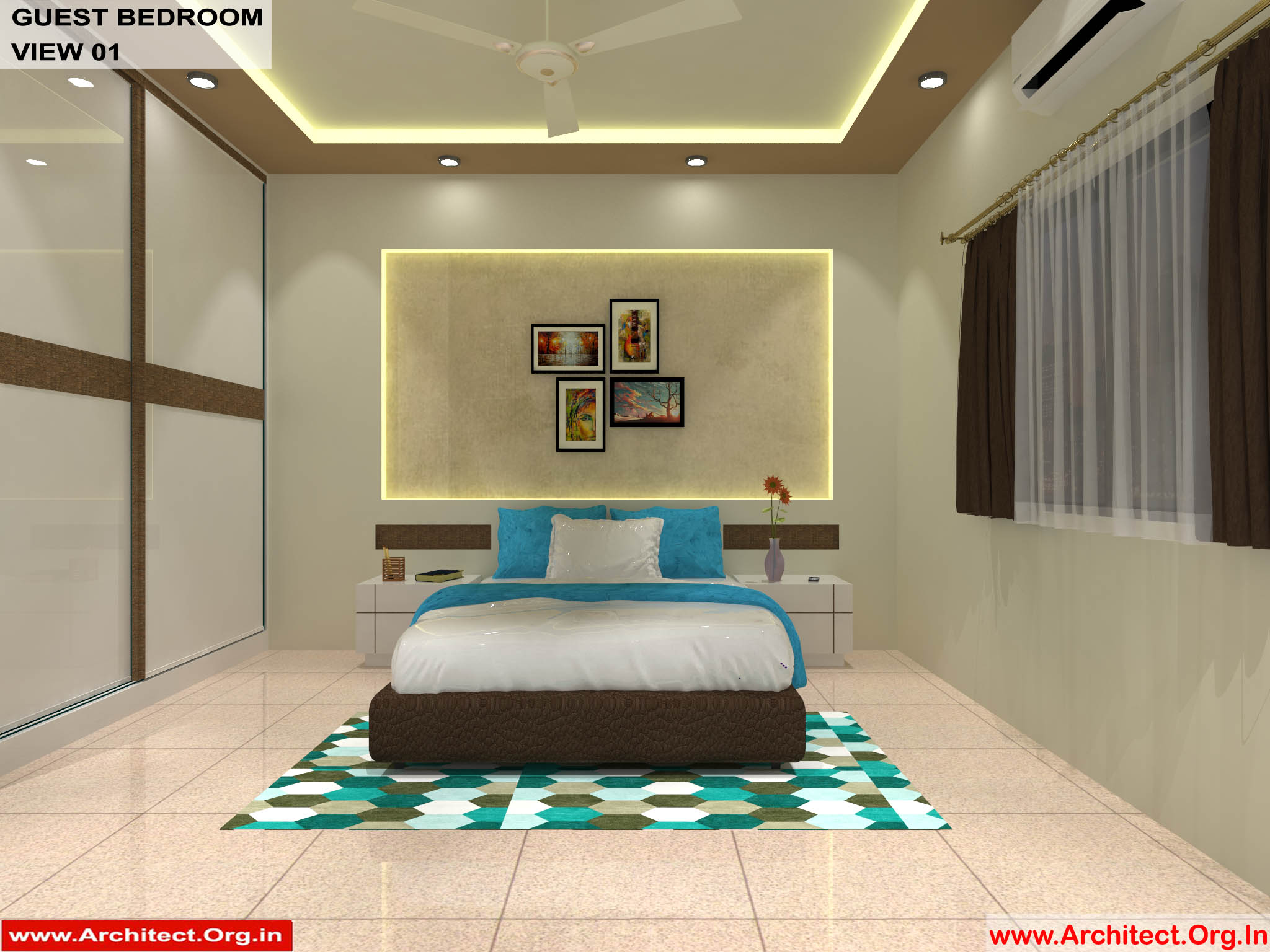 Dr Sandeep Ada Nayudupet Andhra Pradesh House Interior Guest Bedroom View 01 Architect Org In