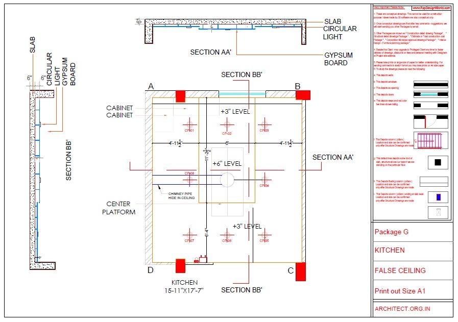 Kitchen Interior Working Drawings - Nayudupet Andhra Pradesh - Dr.Sandeep Ada