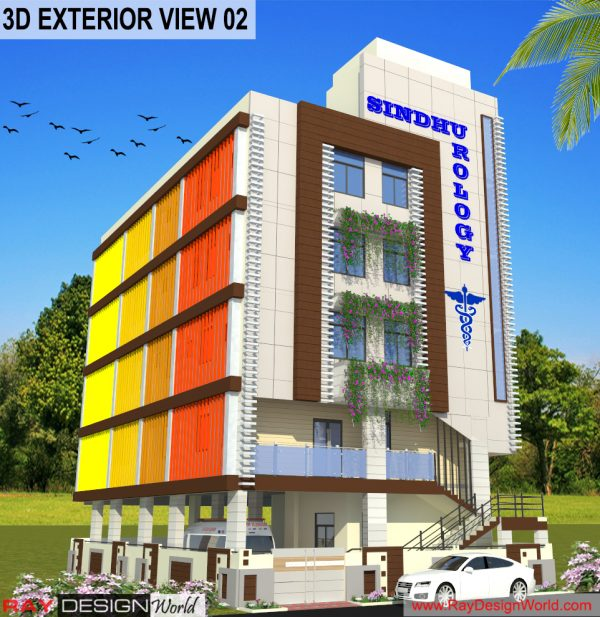Best Hospital Design in 2160 square feet - 210