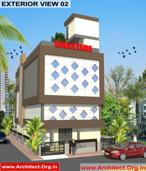 Commercial Complex Design-3D Exterior View 02 - Indranagar Lucknow UP - Mr. Abhishek Singh