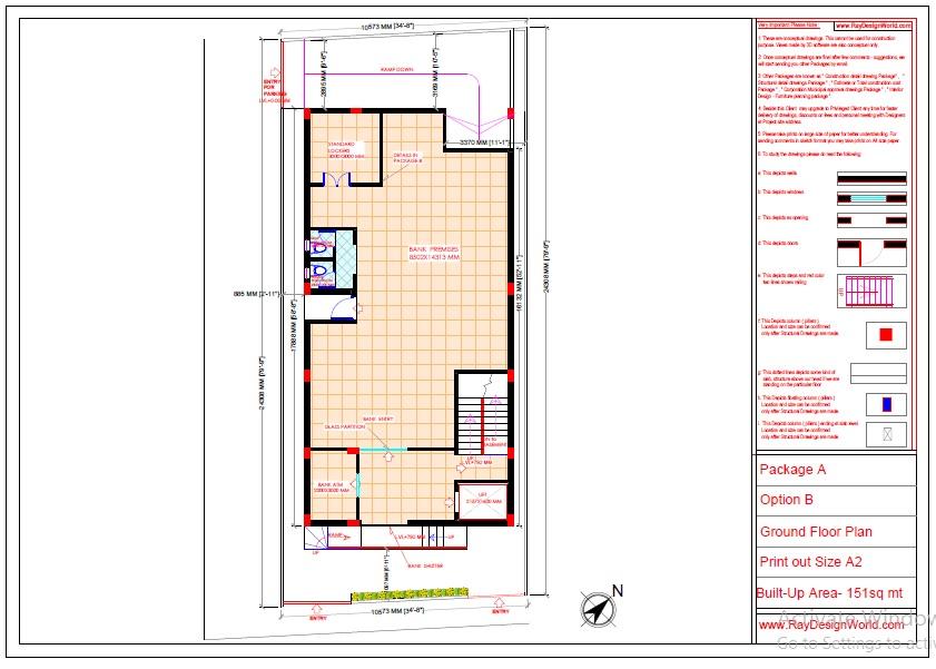 Commercial Complex Design - Ground floor plan- Indranagar Lucknow UP - Mr. Abhishek Singh