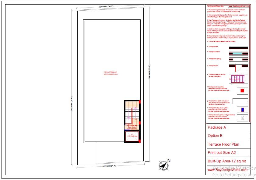 Commercial Complex Design-terrace floor plan - Indranagar Lucknow UP - Mr. Abhishek Singh