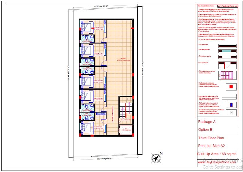 Commercial Complex Design-Third floor Plan - Indranagar Lucknow UP - Mr. Abhishek Singh