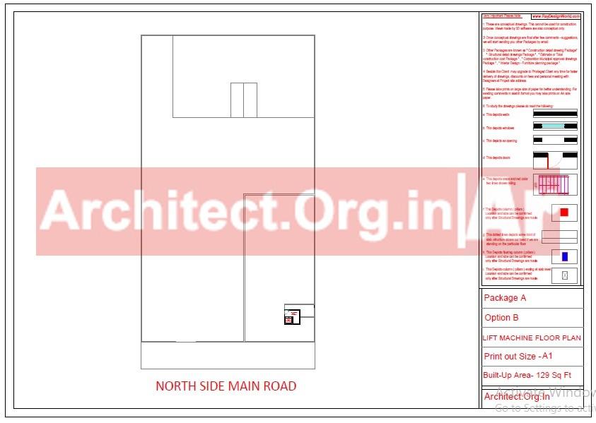 School and Hostel Design -Lift Machine Floor Plan- Uttar Dinajpur West Bengal - Mr.Abdullah Sabir