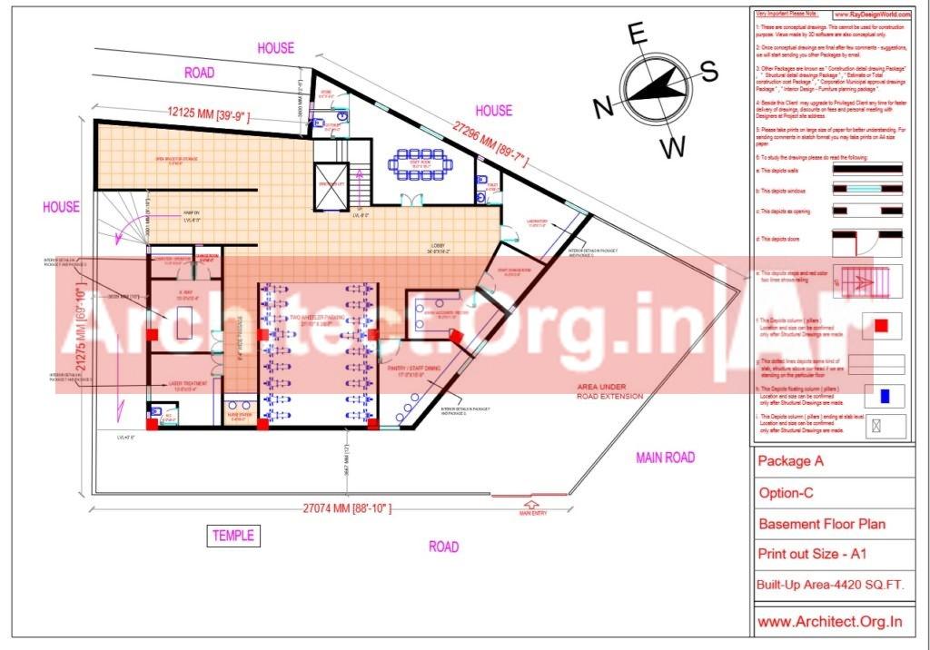 Hospital Design - Basement Floor Plan - Bhilwara Rajasthan - Dr.Ashish Ajmera