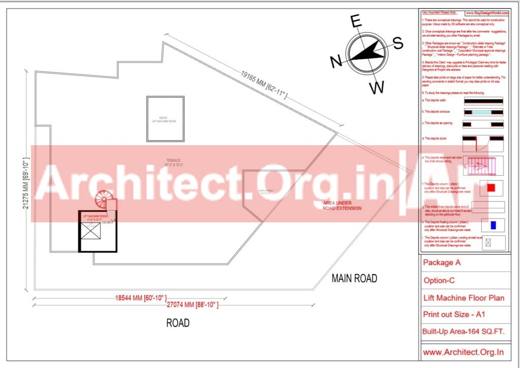 Hospital Design - Lift Machine Floor Plan - Bhilwara Rajasthan - Dr.Ashish Ajmera