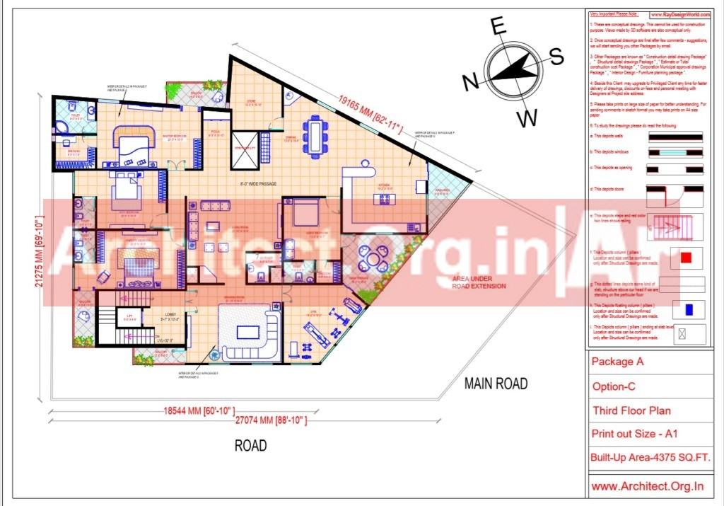 Hospital Design - Third Floor Plan - Bhilwara Rajasthan - Dr.Ashish Ajmera