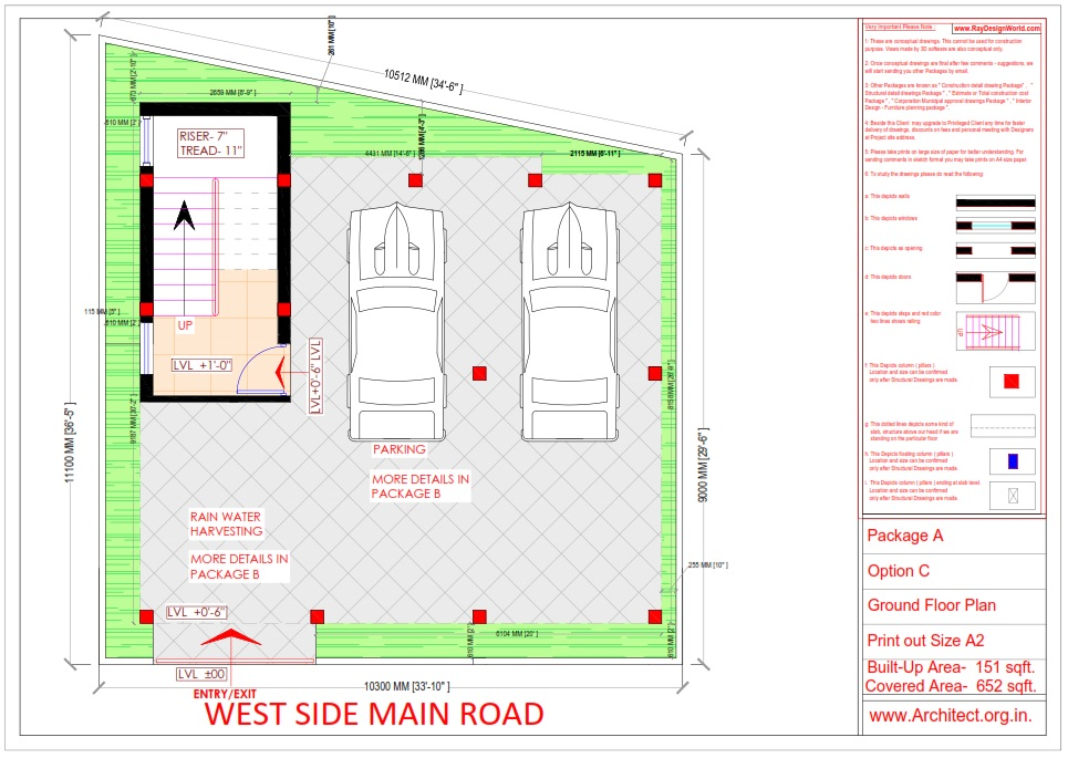 Bungalow Design -ground  Floor Plan - Tambaram Chennai Tamilnadu -  Mr.Vinoth S. Nagarajan