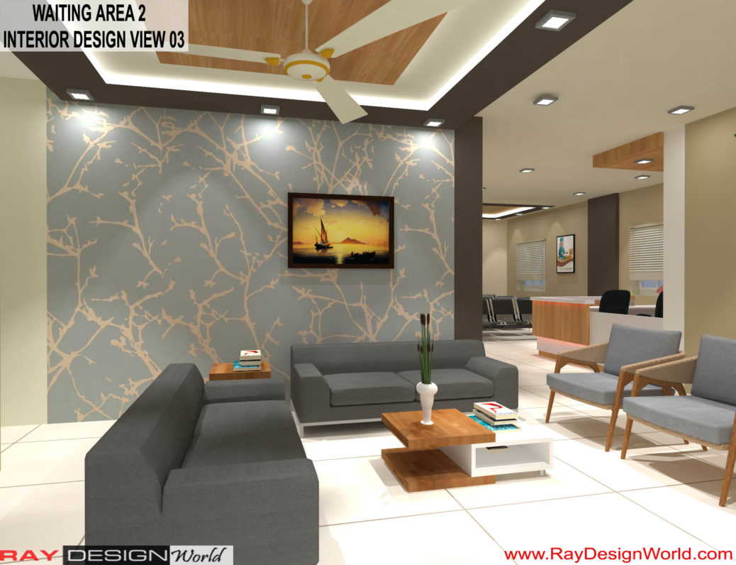 Hospital Waiting Area 2 Interior Design - Shimoga Karnataka - Dr. Rajeev Pandurangi