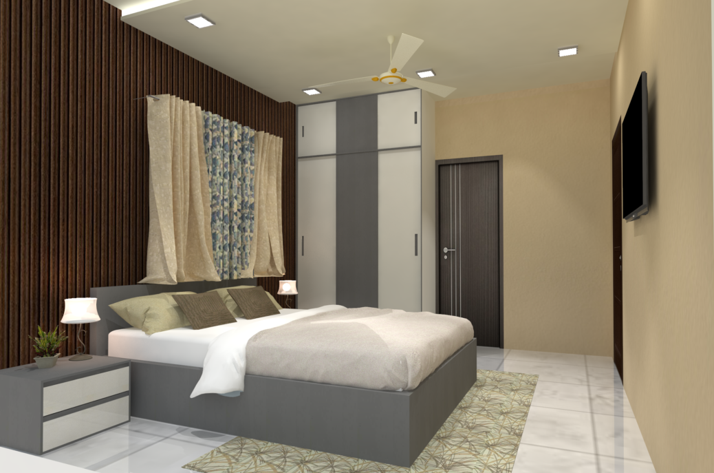 Apartment Interior Design - Master Bedroom Interior Design – V M Park Brahmpur Odisha – Mr. Bichitra Patnaik