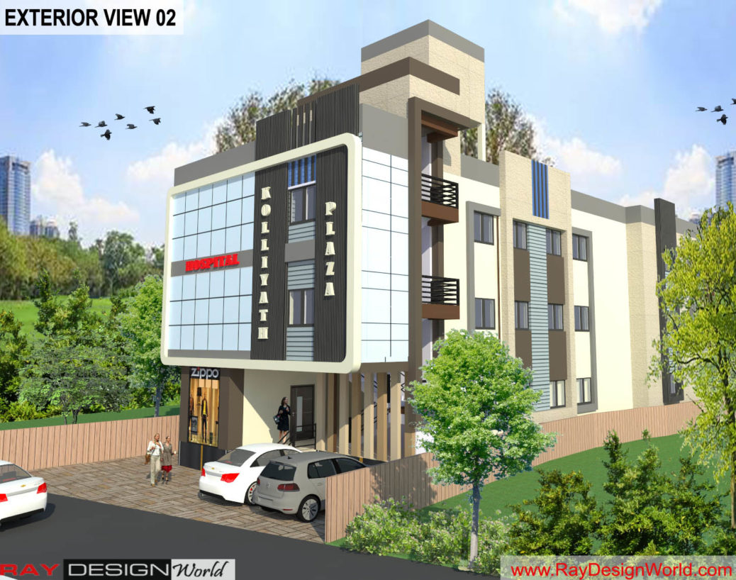 Commercial Complex - 3D Exterior view 02
